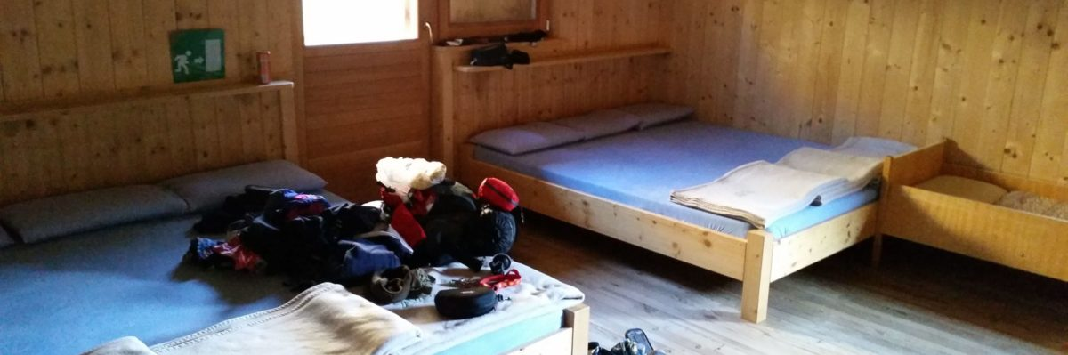 Bettenlager auf der Brixner Hütte