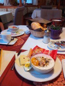 Ernährung Alepncross - Frühstück in Sterzing