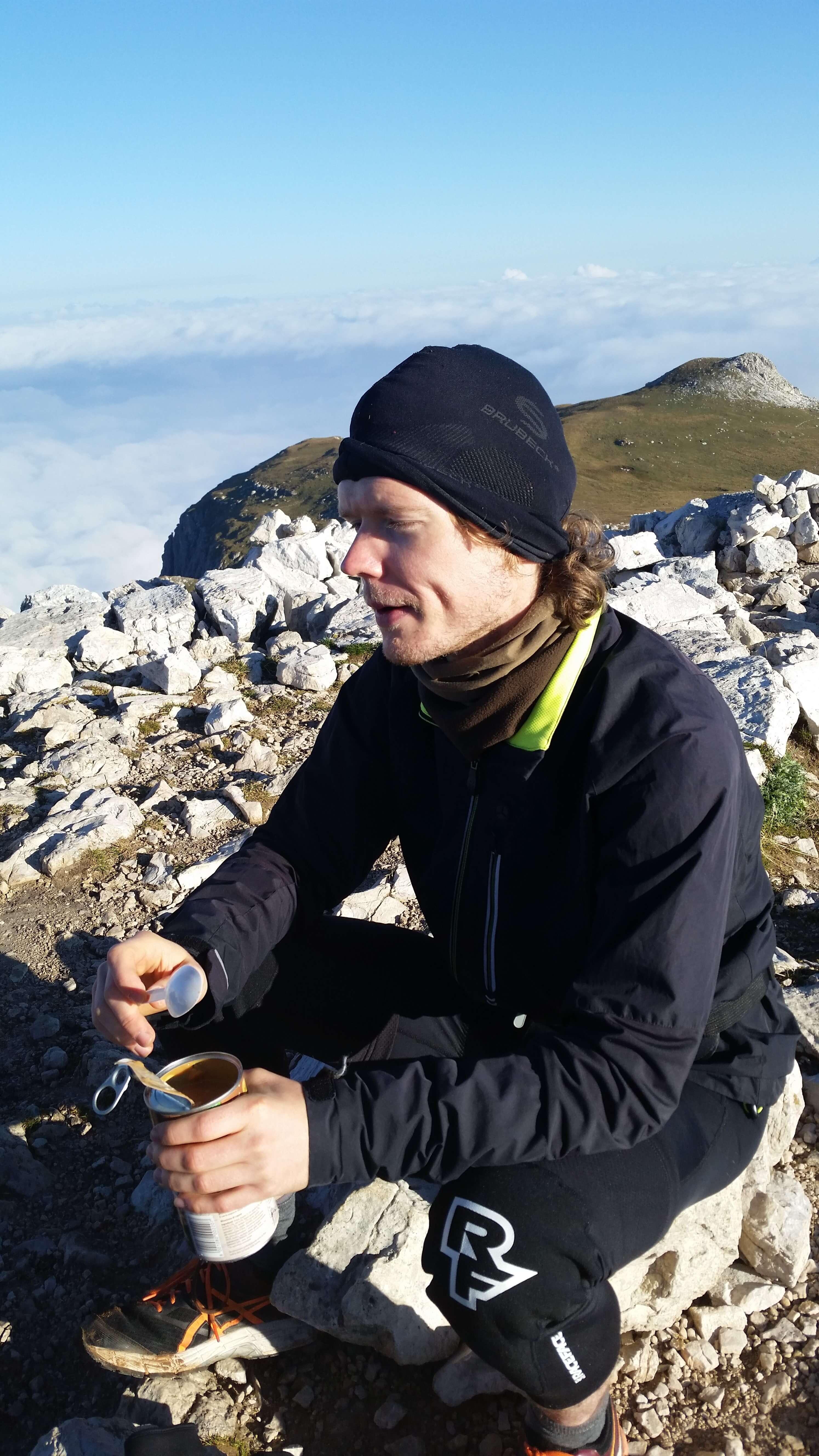 Ernährung Alpencross: Dosensuppe