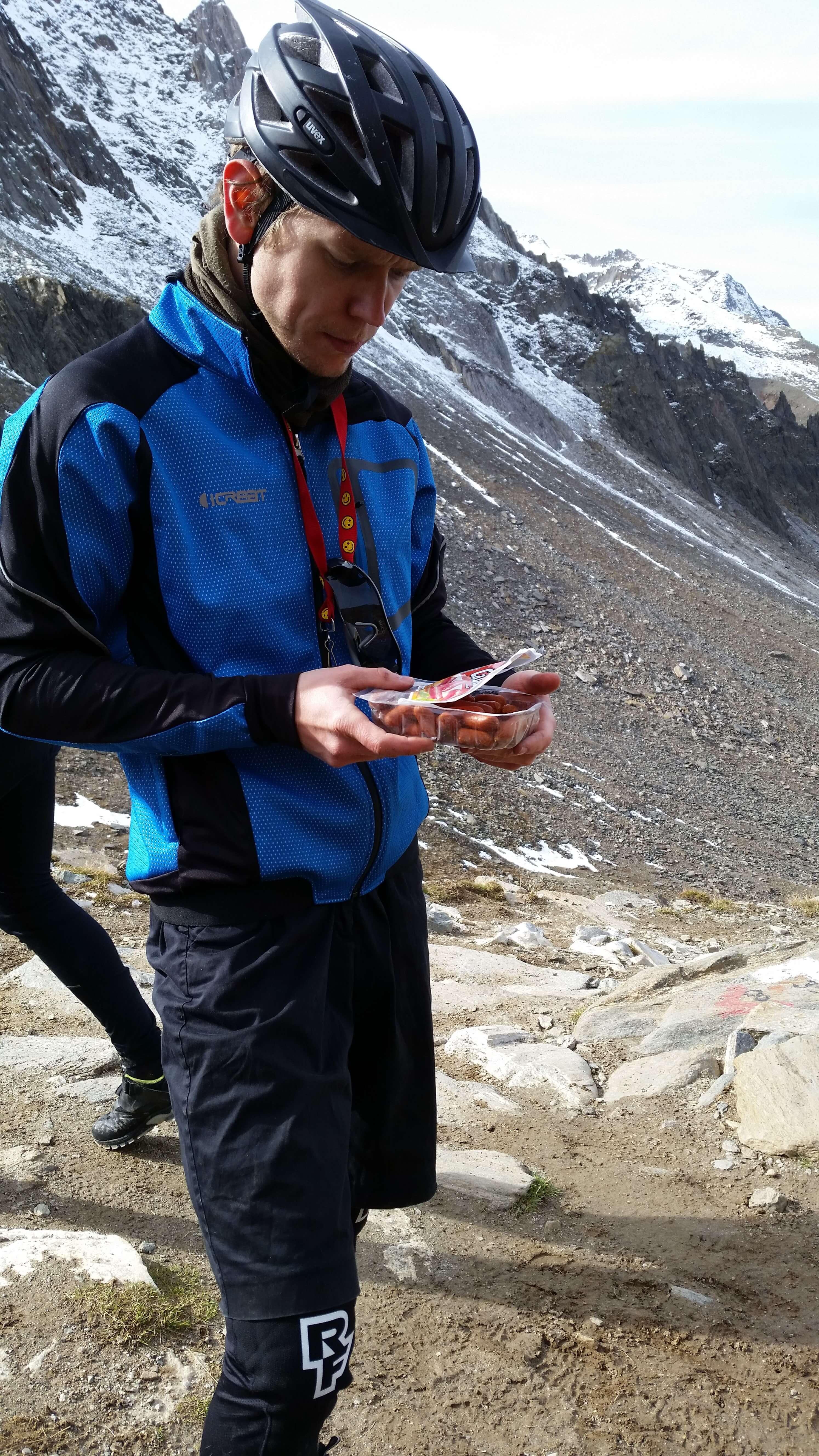 Ernährung Alpencross: Würstchen